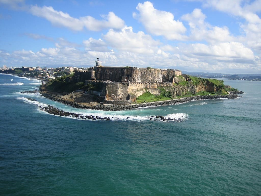 Photo of the San Juan fortress in Puerto Rico